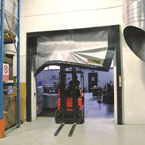 Roll-up industrial door / PVC / automatic / fire-rated