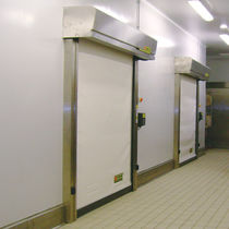 Roll-up industrial door / PVC / automatic / thermally-insulated