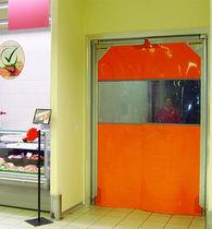 Swing industrial door / metal / PVC / for the food industry
