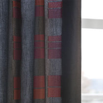 Curtain fabric / plaid / Trevira CS® / polyethylene