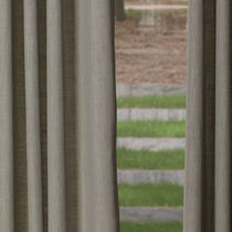 Curtain fabric / plain / cotton / linen