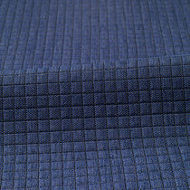Upholstery fabric / plaid / polyester / fire-rated