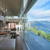 Sliding patio door / triple-glazed / insulated