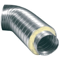 Flexible air duct / rigid / aluminum / thermally-insulated