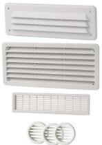 Plastic ventilation grill / rectangular / round