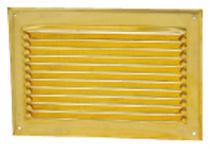 Brass ventilation grill / rectangular / square