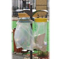 Public trash can / galvanized steel