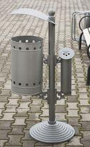 Public litter bin / stainless steel