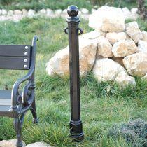 Security bollard / cast iron / high