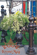 Metal planter / traditional / for public spaces