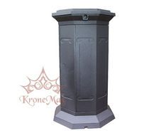 Public trash can / cast iron / contemporary