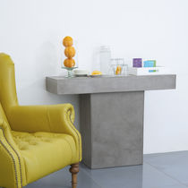 Minimalist design sideboard table / concrete / cement / rectangular