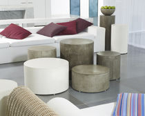 Contemporary side table / concrete / rectangular / garden