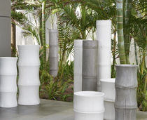 Concrete planter / round / contemporary
