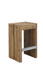 Contemporary bar stool / teak / outdoor