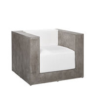 Contemporary armchair / concrete / modular / commercial