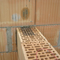 Wall woven wire fabric / metal / square mesh