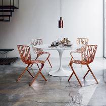 Original design chair / cast aluminum / copper / black
