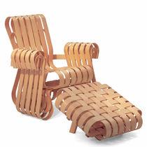 Original design armchair / maple / bentwood / with footrest
