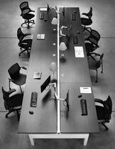 Workstation desk / wood veneer / melamine / HPL