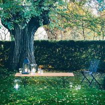 Garden bench / contemporary / teak / solid wood