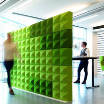 Interior fitting acoustic panel / wool / for public buildings