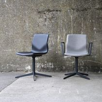 Contemporary visitor chair / upholstered / with armrests / polypropylene