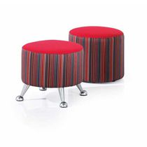 Contemporary stool / fabric / upholstered / red
