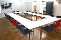 Contemporary conference table / laminate / HPL / rectangular