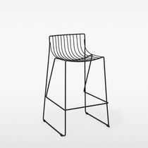 Contemporary bar stool / metal / garden