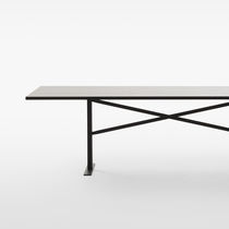 Work table / contemporary / oak / painted steel