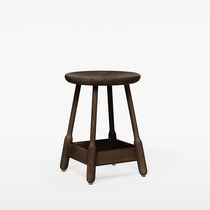 Contemporary stool / oak / beech