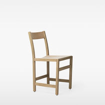 Contemporary dining chair / beech / oak / upholstered