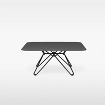 Coffee table / contemporary / galvanized steel / laminate