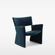 Contemporary armchair / fabric / tablet