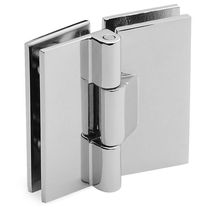 Glass door hinge / brass / two-leaf