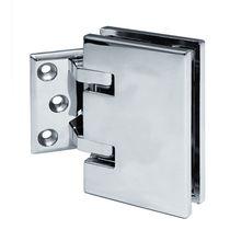 Glass door hinge / brass / corner
