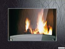 Wood closed hearth / 1-sided / metal
