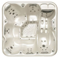 Above-ground hot tub / square / 6-seater