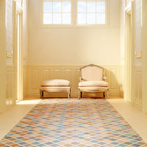 Linoleum flooring / commercial / tile / roll