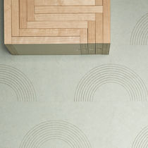 Linoleum flooring / residential / tile / matte finish