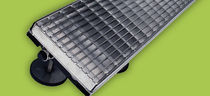 Patio drainage channel / metal / with grating
