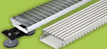 Bathroom drainage channel / stainless steel / with grating