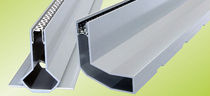 Patio drainage channel / aluminum / with central slot / with grating