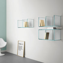Wall-mounted shelf / contemporary / glass