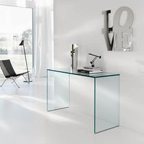 Sideboard table / rectangular / contemporary / glass