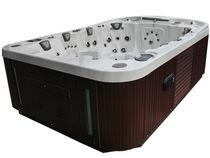 Portable hot tub / rectangular / 6-seater