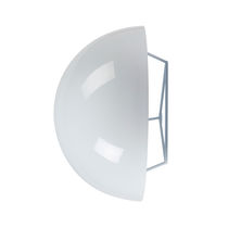 Contemporary wall light / metal / compact fluorescent / round