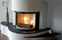 Contemporary fireplace surround / slate