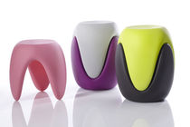 Organic design stool / plastic / stackable / by Karim Rashid